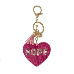 Breast Cancer Awareness Key Chain Pink & Gold